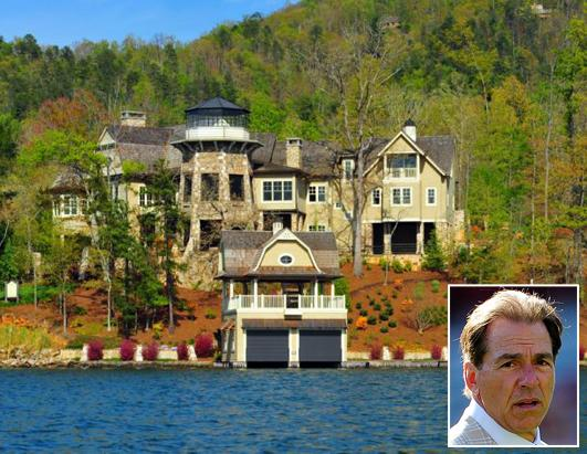 Nick Saban's home goes up for auction.