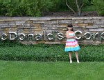 PHOTO: Hannah Robertson on the McDonalds corporate headquarters.