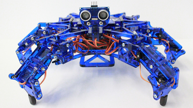 PHOTO: Hexy, an intelligent six-legged robot, is both toy and technology-demonstrator.