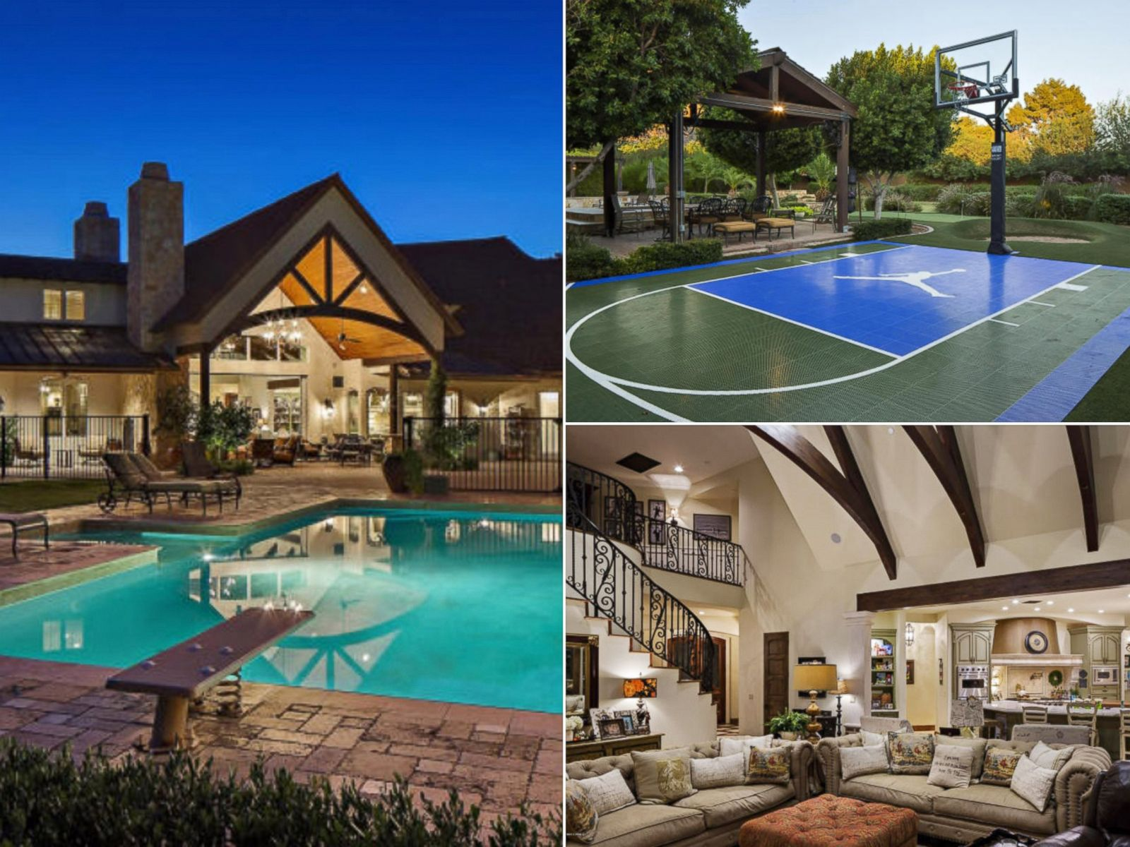March Madness Homes With Basketball Courts For Sale s ABC News