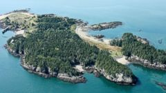 Casco Bay Island in between the US and Canada is for sale for 1.4 million US dollars.