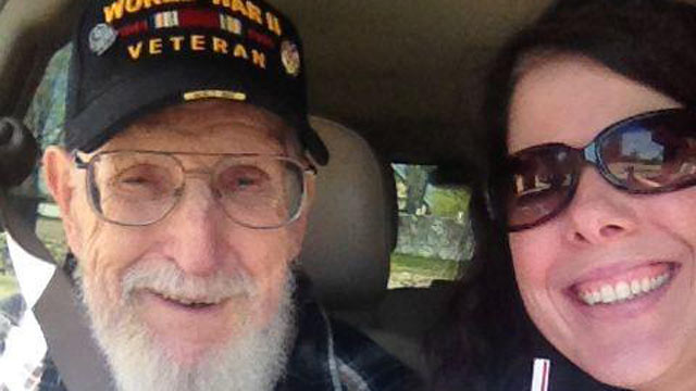 PHOTO: Jaclyn Fraley, pictured with her grandfather, John J. Potter, is hoping to stop her mother from evicting