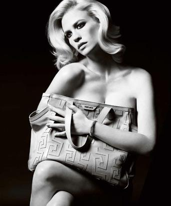 January Jones Bare for Versace