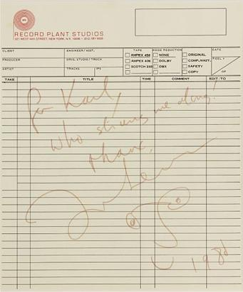 John Lennon autograph sold for $72K