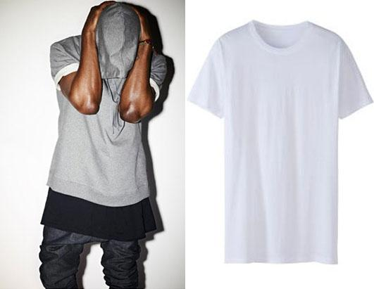 Kanye west pushes 120 t shirt picture in photos for Apc white t shirt