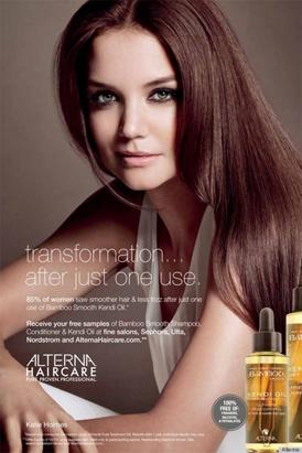Katie Holmes Debuts in Alterna Ads