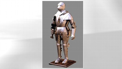 PHOTO: A medieval, gothic full suit of armor being sold as a costume for Halloween on Ebay.com is listed for $9,915.