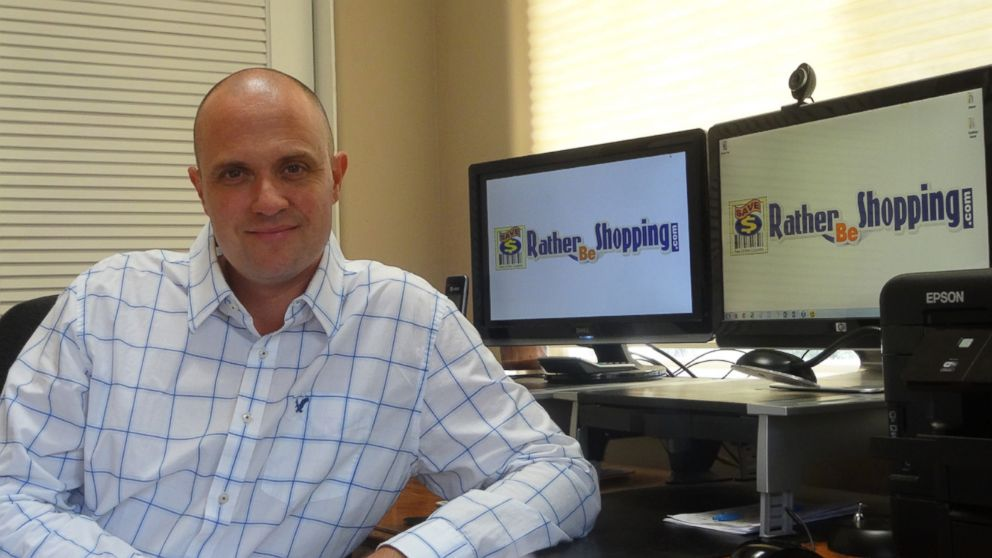 PHOTO: Kyle James is the founder of the coupon website Rather-Be-Shopping.com.