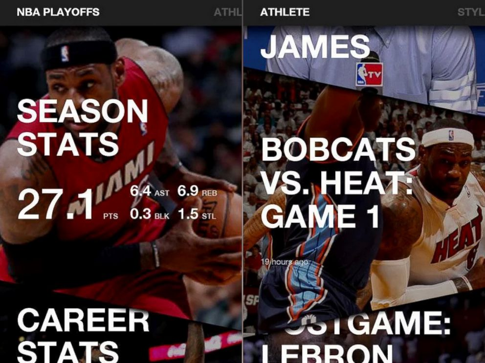 PHOTO: Pictured is Samsungs LeBron app.