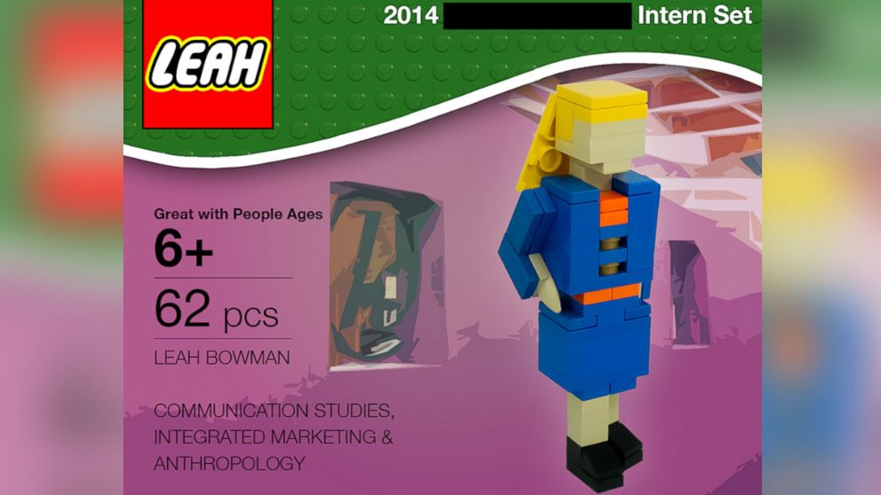 PHOTO: College student Leah Bowman created a Lego job application that has gone viral online.
