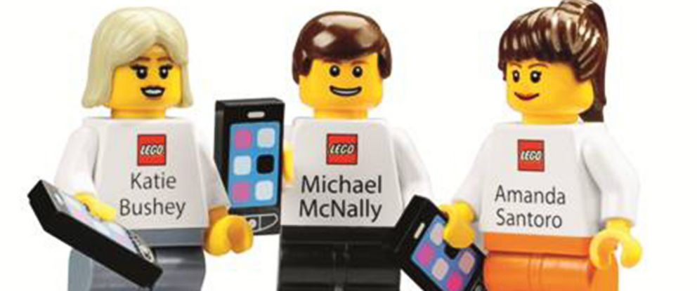 """PHOTO: According to a LEGO spokesperson, """"While all LEGO Group employees have traditional company business cards, many people also have minifigure business cards."""""""