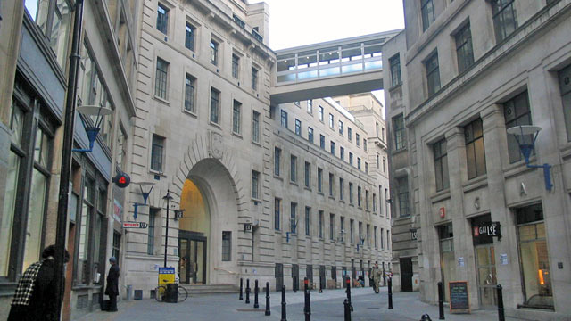 PHOTO: The main entrance to the London School of Economics.