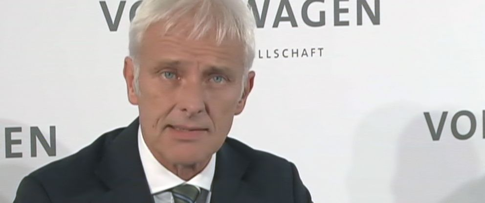 PHOTO:Matthias Müller is seen here at the Volkswagen supervisory board meeting, Sept. 25, 2015, Wolfsburg, Germany, where it was announced that he has been appointed CEO of Volkswagen AG.