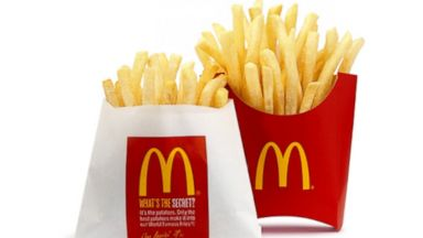 PHOTO: McDonalds large and small fries.