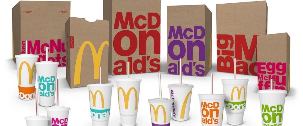 PHOTO: McDonalds announced on Jan. 7, 2016 that new packaging will roll out to over 36,000 restaurants throughout the year.