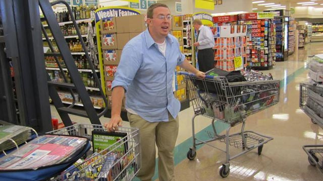 """PHOTO Nathan Engels reveals his money-saving tactics on TLCs """"Extreme Couponing."""""""