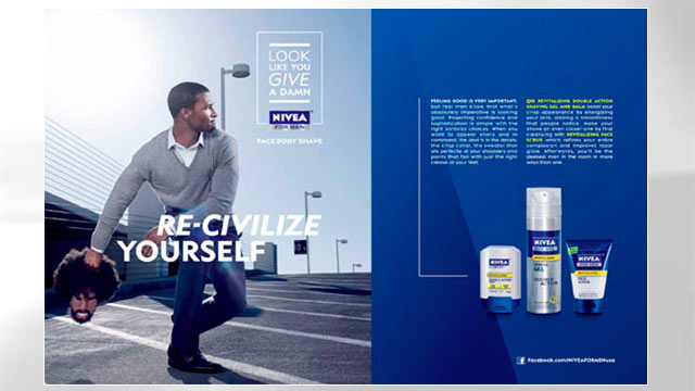 PHOTO: A Nivea advertisement is shown.