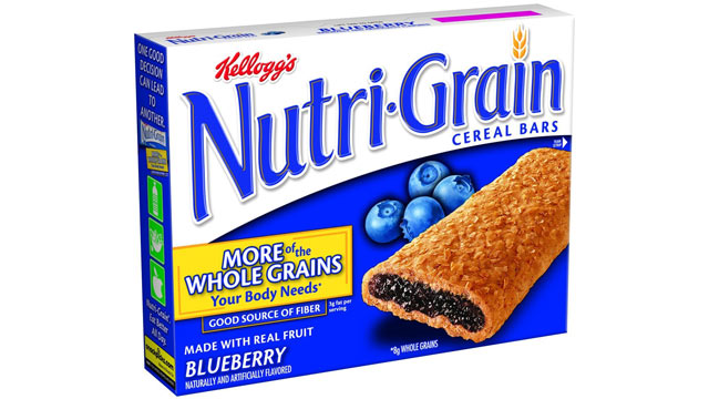 PHOTO: Kellogg's blueberry nutrigrain bars have Blue 1 in them.