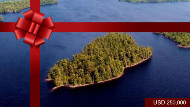 PHOTO: Pine Island, Maine ? USD$ 250,000 <p> Pine Island is a very private 12-acre island located in the middle of Meddybemps Lake, in the township of Alexander. The island is developed with a two bedroom cabin that enjoys a west-facing porch, pefect for c