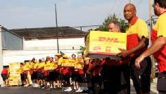 PHOTO: DHL Express, the world's leading international express services provider, has been entered in the Guinness Book of World Records for performing the largest pizza delivery in history for Pizzas 4 Patriots, a non-profit organization. Since 2008, DHL
