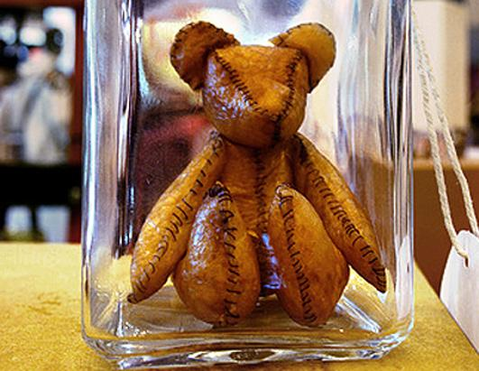 A teddy bear made of human placenta.