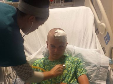 PHOTO: Nicholas Baer, 12, recovers after being hit by a plane.