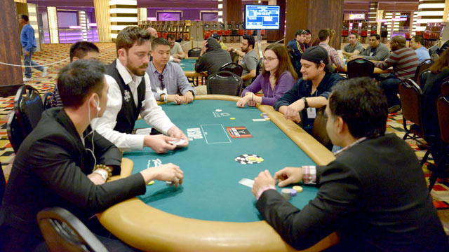 PHOTO: In January in Las Vegas, current and former MBA students from such schools as Wharton, Harvard and MIT Sloan competed for jobs at Caesars by playing poker.