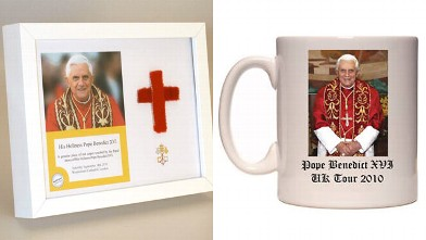 PHOTO: Pope Benedict XVI memorabilia has been put up for sale.