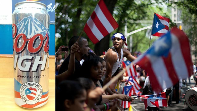 PHOTO: Coors is an official sponsor of the Puerto Rican Day Parade.