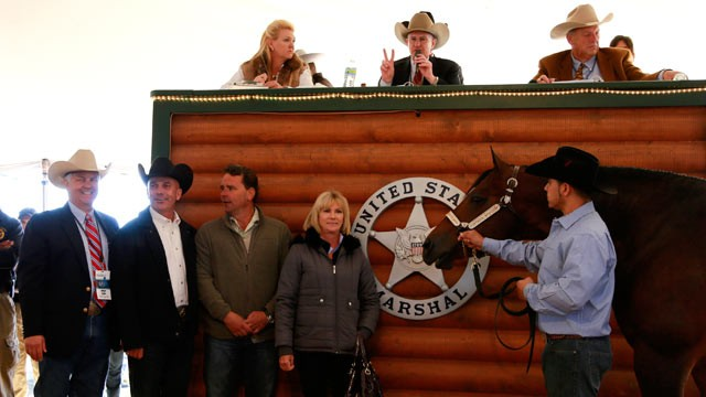 PHOTO: An auction of horses and other items belonging to Rita Crundwell, the indicted former comptroller of Dixon, Ill., earned nearly $5 million.