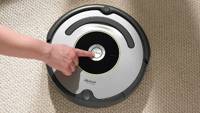 PHOTO: The Roomba robotic vacuum analyzes its environment to leave floors spotless.
