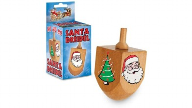 PHOTO: The dreidel depicts Santa on one side, a Christmas tree on the other.
