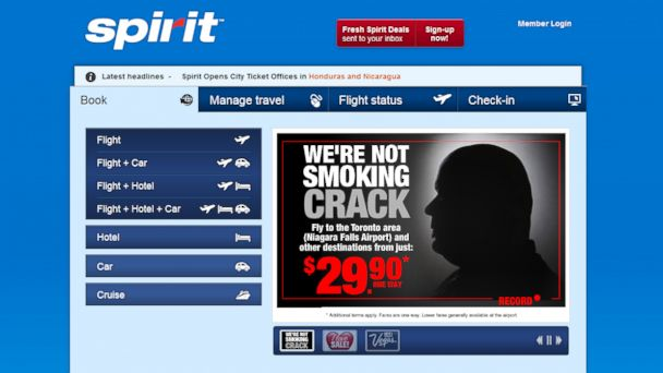 ht spirit airlined rob ford ad ll 131114 16x9 608 Spirit Airlines Pokes Fun at Toronto Mayor Rob Fords Crack Use