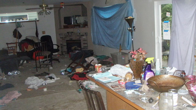 PHOTO: The destruction found inside of a home in Covington, Washington once occupied by squatters.