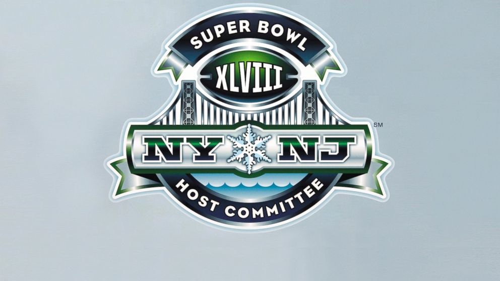 PHOTO: A detail view of the Super Bowl XLVIII host committee logo.