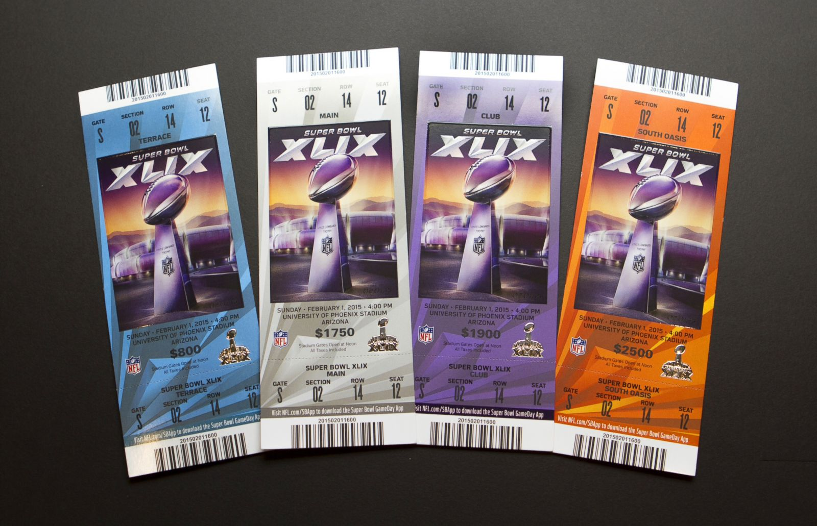 super bowl an evolution of tickets in photos photos abc news