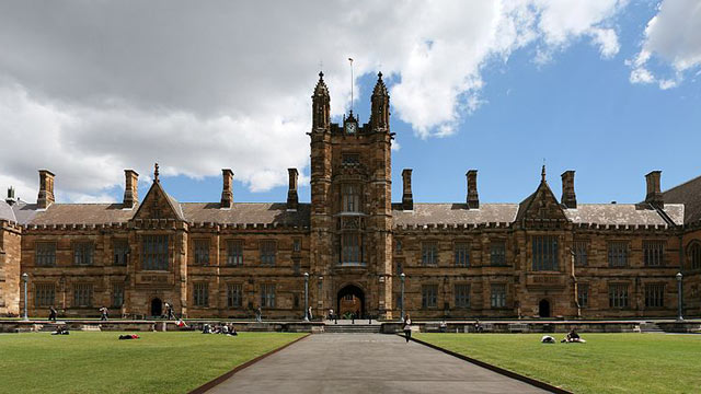 PHOTO: The Great Hall of the University of Sydney.