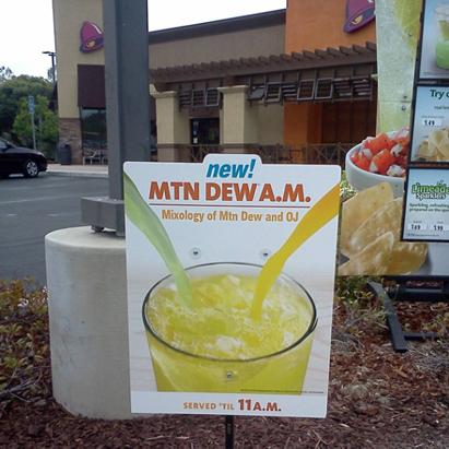 Taco Bell's Mountain Dew Mixer