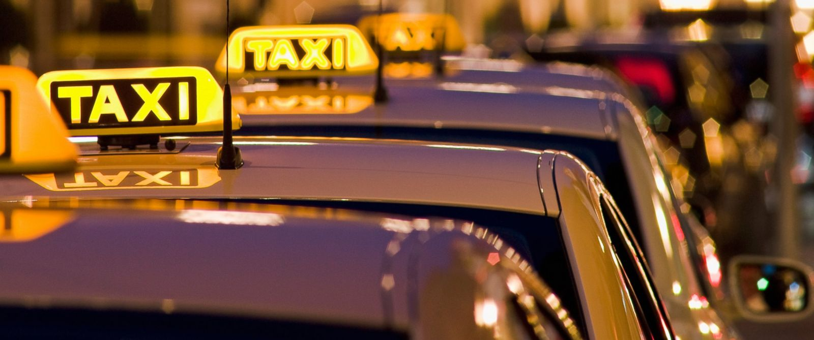 PHOTO: A line of taxi cabs are pictured in this stock image.