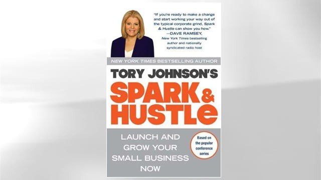 "PHOTO: Tory Johnson's book, ""Spark and Hustle"" is seen here."