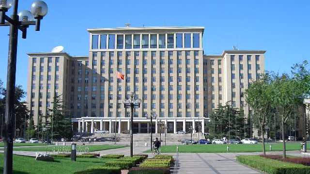 PHOTO: The main administration building of Tsinghua University in Beijing, China.