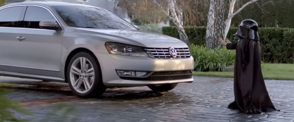 "PHOTO: Volkswagens ""The Force"" Super Bowl commercial aired in 2011."