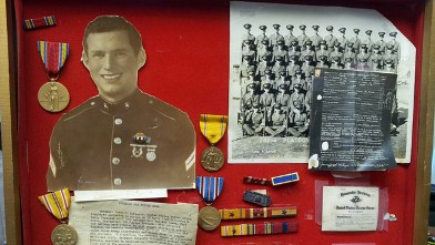 Medals and awards for World War II veteran and POW Marine Sgt. James Joseph McKenzie were discovered by Goodwill.