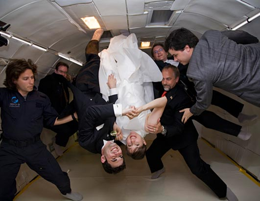 World's Most Unusual Weddings: Zero Gravity Wedding