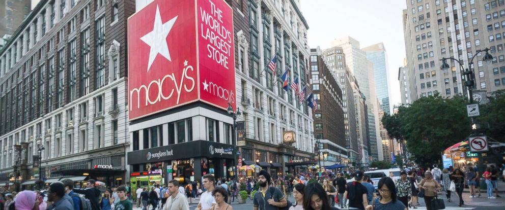 PHOTO: Macys department store in New York City, Aug. 8, 2017. Macys is scheduled to report second-quarter earnings on Aug. 10.