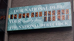 PHOTO: The National Debt Clock in New York.