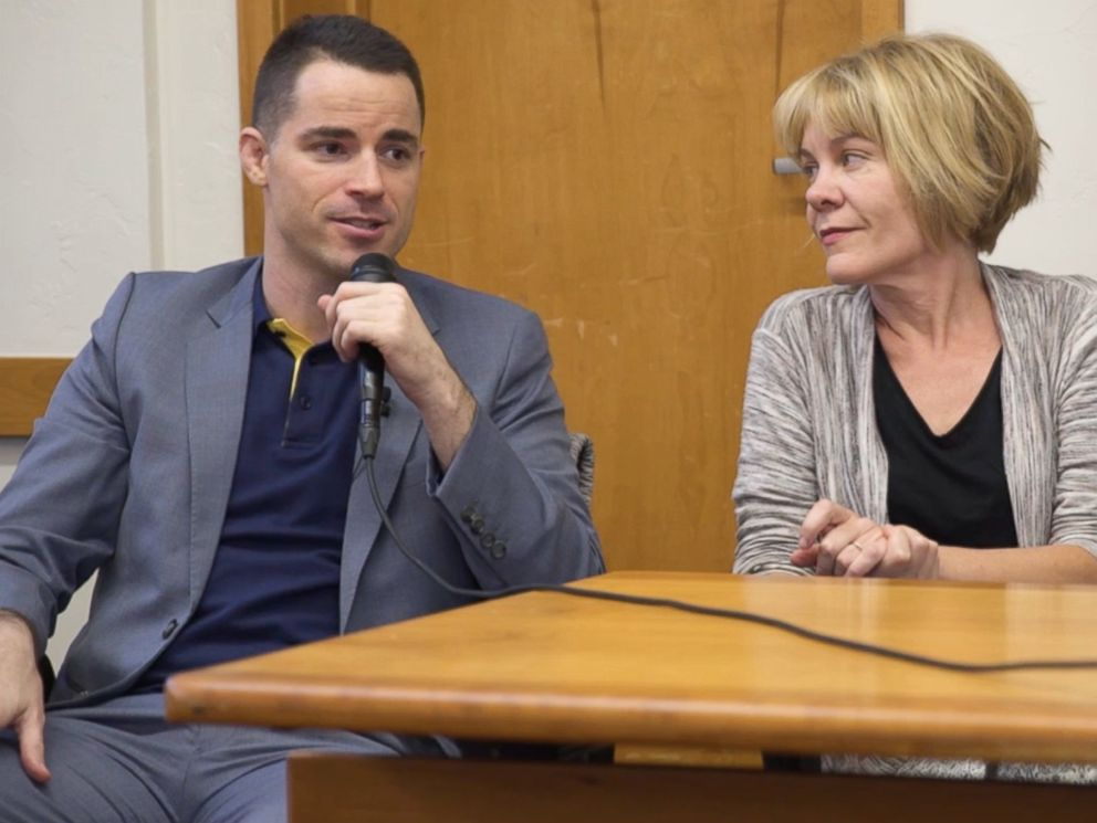 PHOTO: Investor Roger Ver, seated next to The Keiser Report co-host Stacy Herbert, speaks at the Nexus Conference in Aspen, Colo., Sept. 22, 2017.
