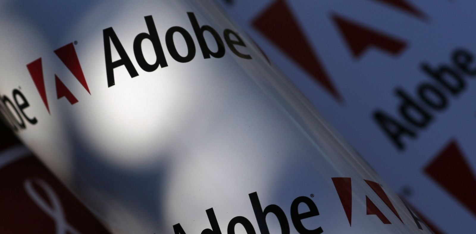 PHOTO: Adobe company logos are seen in this July 9, 2013 picture illustration.
