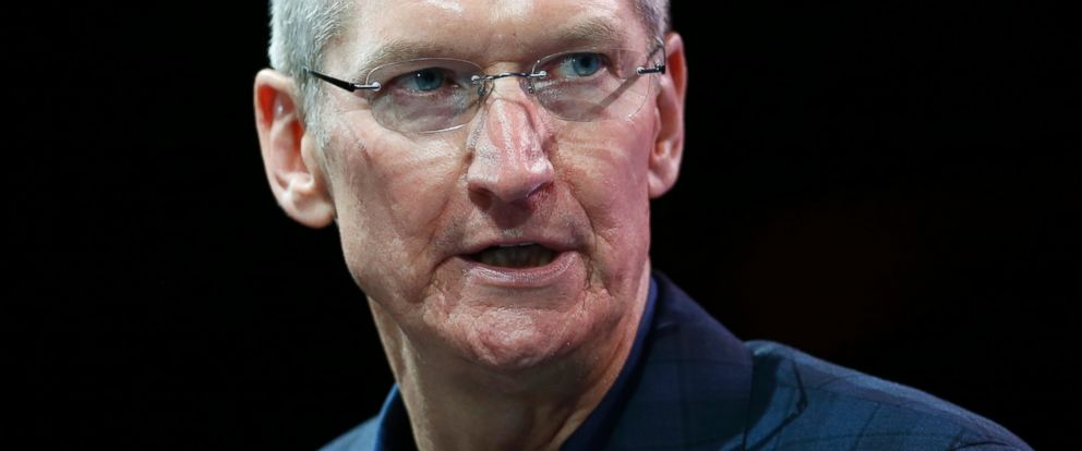 PHOTO: Apple CEO Tim Cook speaks at the WSJD Live conference in Laguna Beach, Calif., Oct. 27, 2014.