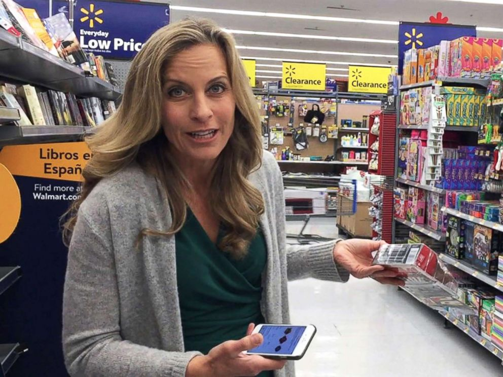 PHOTO: During her own experiment which aired on Good Morning America, tech contributor Becky Worley headed to the clearance rack and fired up the Amazon app. She then used the built-in barcode scanner to check prices on the items.